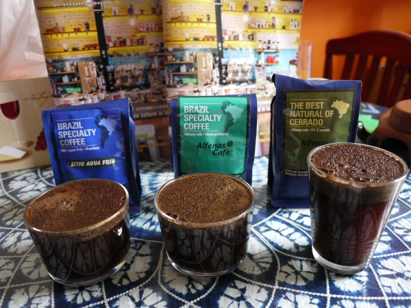 Cupping of three Brazilian coffee from Seoul