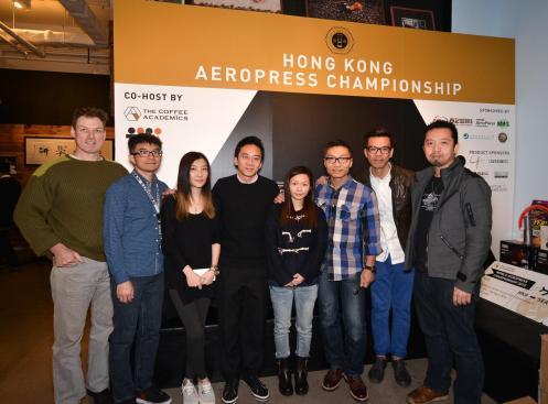 2015香港愛樂壓冠軍賽評審團 (從左至右: Craig Jackson, William So, Kammie Hui, Raymond Tong, Josie Cheng, Edwin Lee, Chester Tam 和Peter Law)
