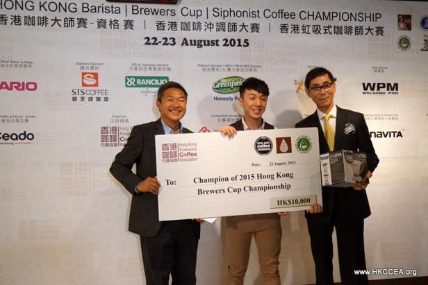 2015年香港咖啡沖調師冠軍,來自 The Cupping Room 的 王家俊 (Benny Wong)